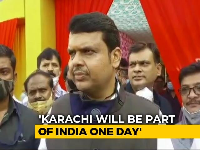 Video: 'Karachi Will Be Part Of India One Day': Devendra Fadnavis Amid Shop Row