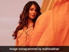 हिना खान ने ऑरेंज कलर की ड्रेस में दिखाया स्टाइलिश अंदाज, खूब वायरल हो रही हैं Photos