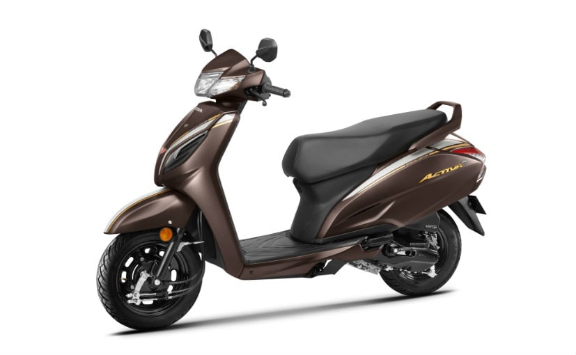 The Honda Activa 6G 20th Anniversary Edition gets new Mature brown & Pearl Nightstar black colours