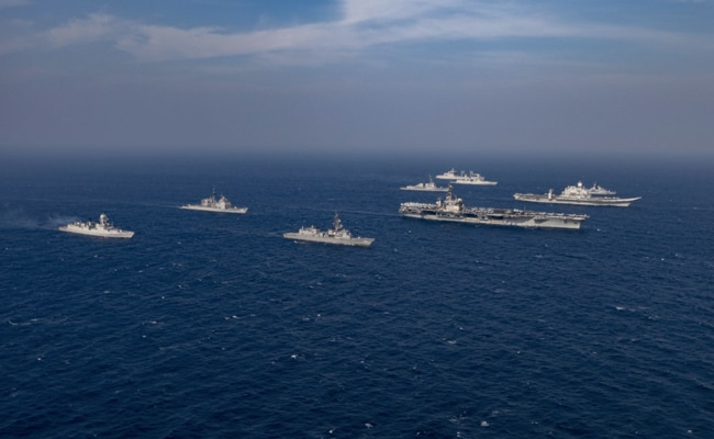 Indian navy ship with US NAVY