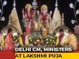 Video : Arvind Kejriwal Takes Part In Diwali Puja At Delhi's Akshardham Temple