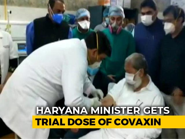 Video : Haryana Minister Anil Vij Becomes First Volunteer Of Covid Vaccine Trials