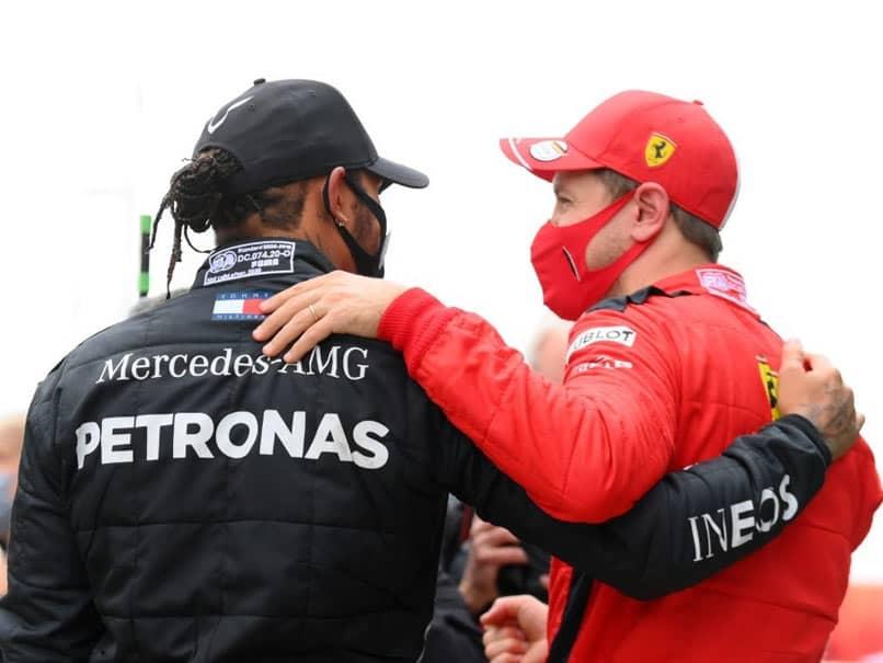 """Witnessing You Making History"": Sebastian Vettel Congratulates Lewis Hamilton For Equaling Michael Scumachers F1 Record"