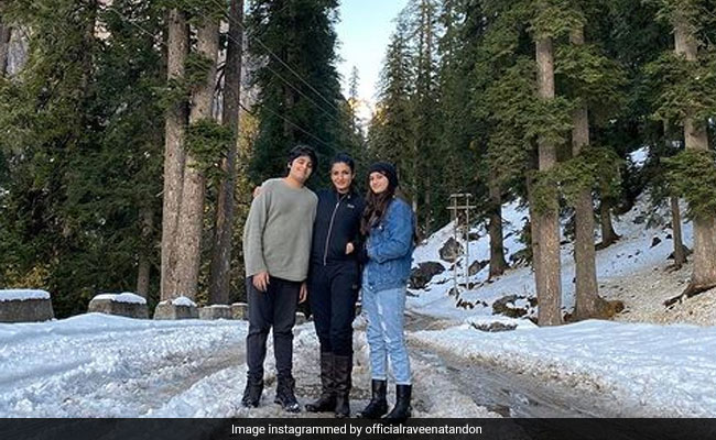 Raveena Tandon Is 'Camping In The Mountains' With Her Kids. See Pics