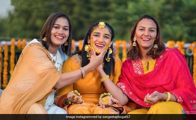 A Few Glimpses From Sangeeta Phogat's Haldi Ceremony