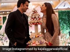 Unseen Pics Of Kajal Aggarwal's Wedding Reception Out; Don't Miss The Unique Cake