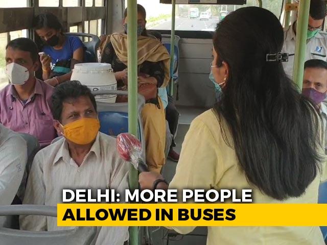 Video : Delhi Allows Buses To Run At Full Capacity Even As Coronavirus Cases Rise