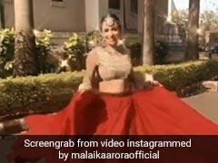 Malaika Arora ने दिवाली के मौके पर पहना रेड लहंगा, फिर यूं डांस करती आईं नजर- Viral हुआ Video
