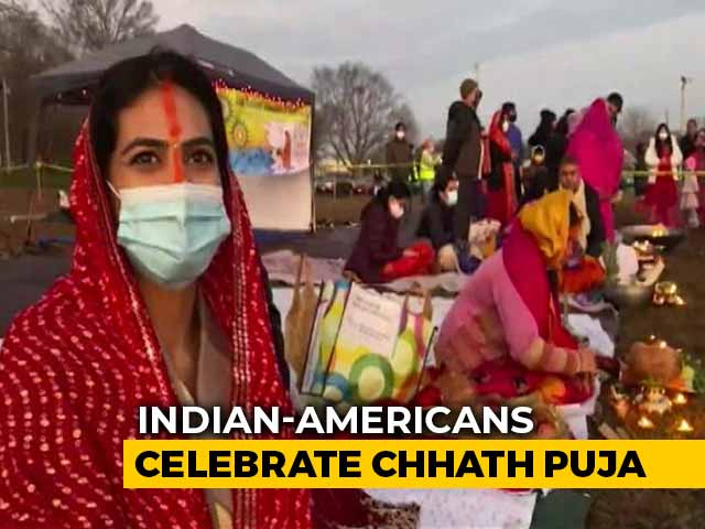 Video : Indian-Americans Celebrate Chhath Puja In New Jersey