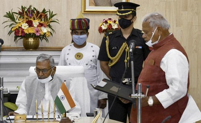 Former Chief Minister Jitan Ram Manjhi Sworn In As Pro-Tem Speaker Of Bihar Assembly