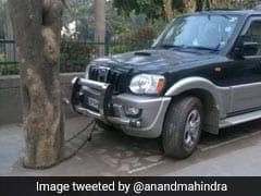 ROFL Pic Shows Mahindra SUV Chained To Tree. Anand Mahindra Says...