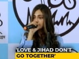 "Video : ""Love And Jihad Don't Go Hand-In-Hand"": Trinamool MP Nusrat Jahan"
