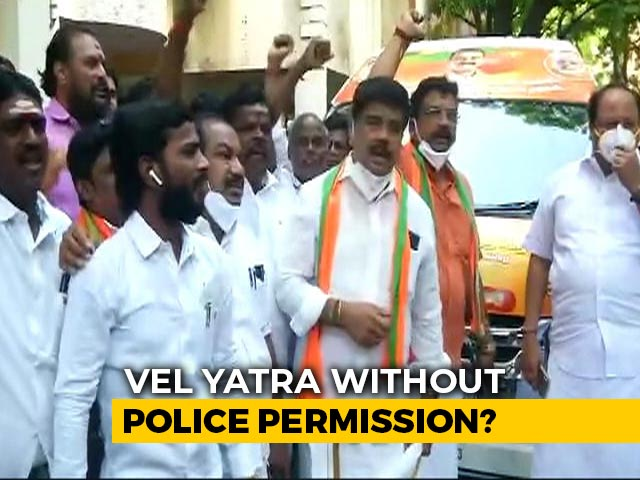 Video : BJP Dares Tamil Nadu Government, To Hold Vel Yatra Without Permission