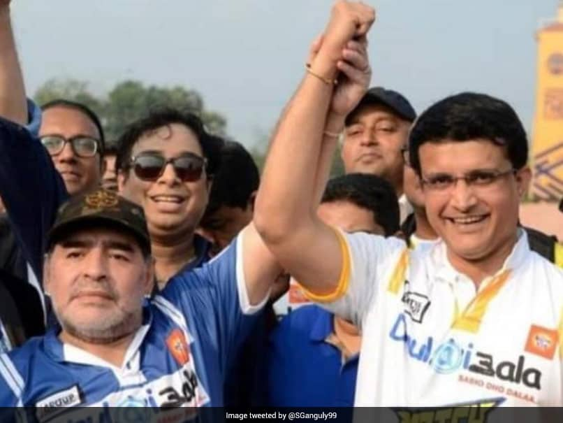 Indian cricketers including sachin, Sourav express their grieve over Diego Maradona death