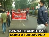 Video : Train Services Disrupted In Bengal Amid Protests Against Centre