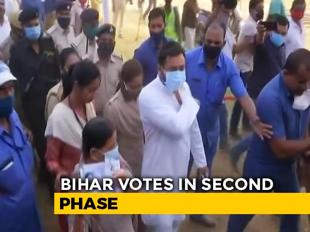 Video : Tejashwi Yadav Among Candidates In Second Phase Of Bihar Polls