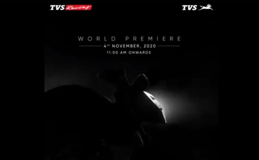 TVS will unveil a new Apache motorcycle on November 4, 2020