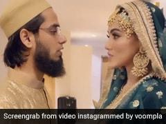 सना खान और अनस सैयद ने एक दूसरे की यूं उतारी नजर, वायरल हुआ Video