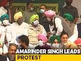 Video : Punjab Chief Minister, Navjot Sidhu, MLAs Protest In Delhi