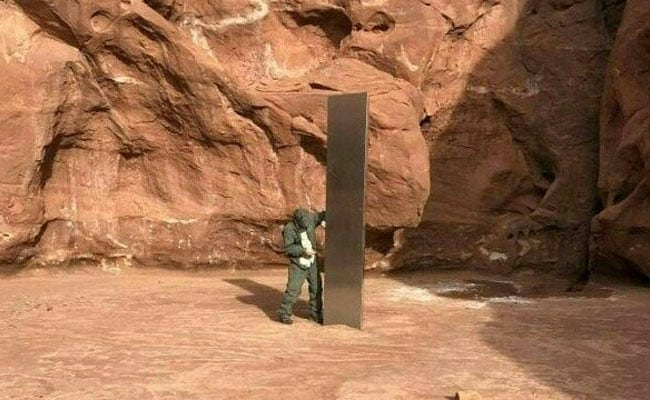Mysterious Monolith Found In US Desert Draws Theories About Aliens, UFOs