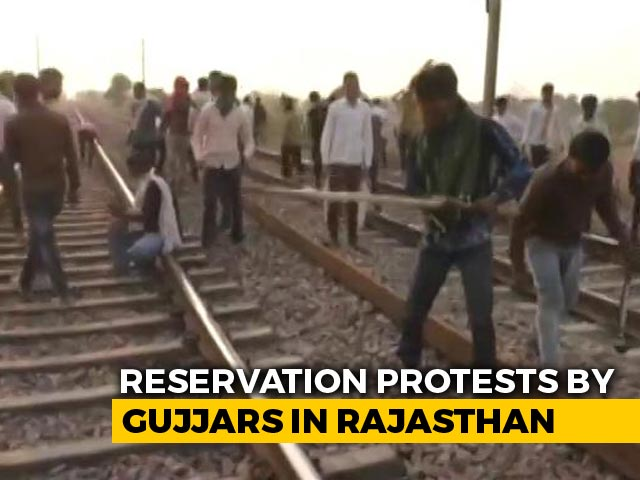 Video : Trains Diverted, Buses Affected Amid Gujjar Quota Protest In Rajasthan