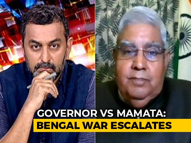 Video: Public Servants Are Frontline Political Workers In Bengal: Governor To NDTV