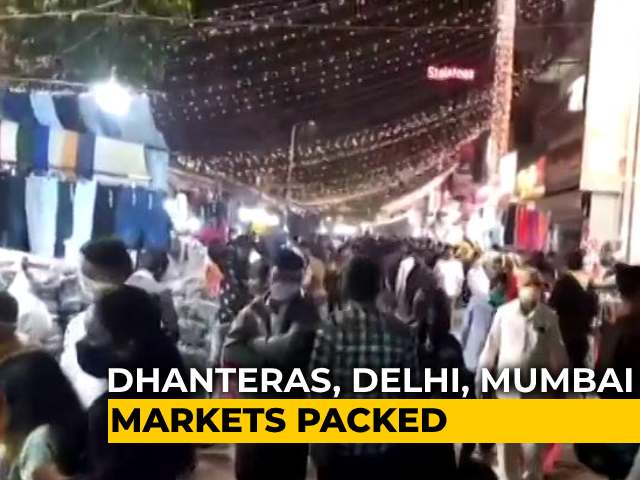 Video : Markets See Record Footfall Despite Pandemic Ahead Of Dhanteras