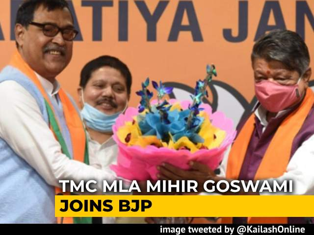 Video : Trinamool MLA Mihir Goswami Joins BJP Hours After Announcing Resignation