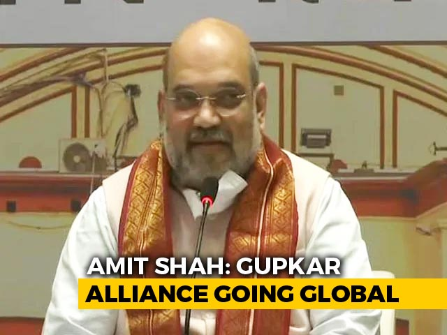 Video: 'Gupkar Gang Going Global': Amit Shah Attacks, J&K Leaders Hit Back