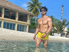 "Please Excuse Tiger Shroff's ""Yellow Hot Pants"" In This Pic From Maldives"