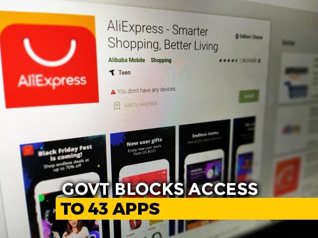 Video : Government Blocks 43 Mobile Apps Over Defence, Security Concerns