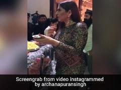अर्चना पूरन सिंह चुपके से खा रही थीं गोलगप्पे, तभी कपिल ने कहा- ये है इनका असली रूप... देखें Video
