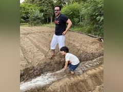 Viral: Pics Of Saif Ali Khan And Taimur Farming In Pataudi