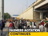 Video : Amid Farmers' Protests, Delhi-Haryana Border Blocked For 4th Straight Day