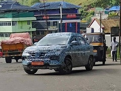 Renault Kiger Subcompact SUV Spied Testing With New Alloy Wheels
