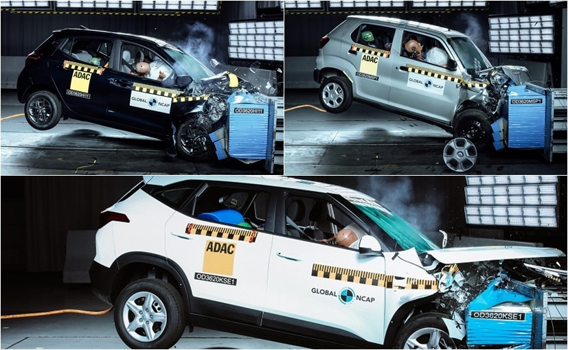 The Maruti Suzuki S-Presso, Hyundai Grand i10 Nios and Kia Seltos were tested by the Global NCAP