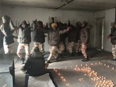 Indo-Tibetan Border Police Soldiers Celebrate Diwali At -20 Degrees In Ladakh