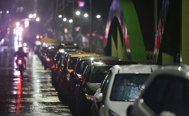Cars Parked On Chennai Flyover Ahead Of Cyclone To Avoid 2015 Repeat