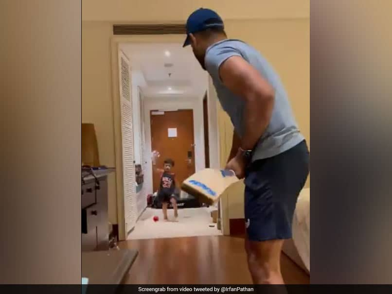 """""""Nice Try Daddy"""": Irfan Pathan Introduces Fans To His New Quarantine Cricket Coach In Cute Video. Watch"""