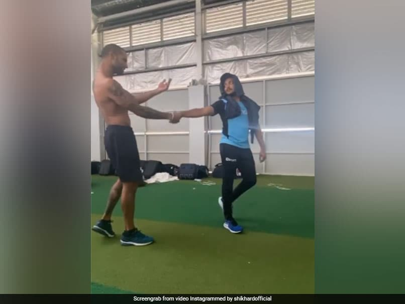 Australia vs India: Shikhar Dhawan Performs On Old Bollywood Hit Song With Prithvi Shaw. Watch