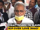 "Video : ""Interfaith Marriages In BJP Leaders' Family Love Jihad?"": Bhupesh Baghel"