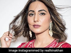 Hina Khan Keeps Her Festive Style Shining In A Red And Gold <i>Salwar Kameez</i> Suit