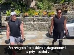 प्रियंका चोपड़ा और निक जोनास ने साथ यूं किया वर्कआउट, Video में दिखा कपल का जबरदस्त अंदाज