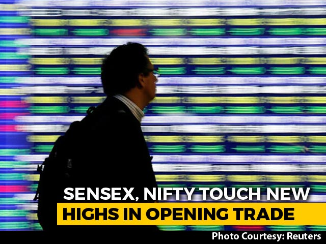 Video : Sensex Touches 44,000 For First Time As Markets Continue Record Run