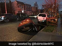 Massive Sinkhole Swallows SUV In New York City