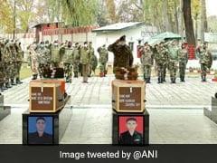 सेना ने संघर्ष विराम उल्लंघन में शहीद चार जवानों को श्रद्धांजलि दी