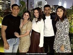Sania, Shoaib Join MS Dhoni In Dubai For Sakshis Birthday Celebration