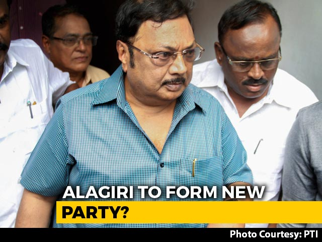 Video : Ahead Of Polls, M Karunanidhi's Son MK Alagiri Considers Forming New Party