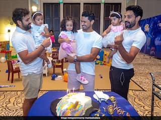 Mumbai Indians Post Adorable Picture Of Rohit Sharma, Other Players With Their Daughters