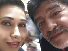 When Karisma Kapoor Met Diego Maradona - Her Tribute To The Football Legend
